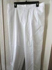 NEW ALFRED DUNNER HIGH TIDE WHITE PANT SIZE 18 MEDIUM