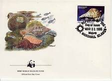WWF Souvenir First Day Cover, Endangered Species, Marshall Islands CDS 1986
