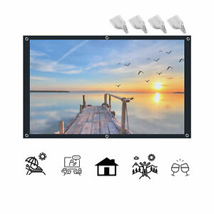 """100"""" Projector Screen Foldable 16:9  Home Cinema Theater Movie 160° View"""