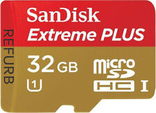 SanDisk 32GB EXTREME PLUS MicroSDHC Card Class 10 UHS-I SDSDQX-032G Refurbished