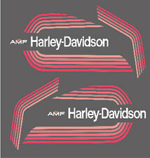 HARLEY DAVIDSON AMF SST 125  250 ADESIVI MOTO ROSSA STICKERS