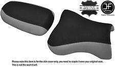 Diseño 2 Negro Gris Vinilo Personalizado Se Ajusta Kawasaki ZX9R 98-02 DELANTERO TRASERO SEAT COVER