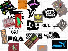 GLOW IN THE DARK  IronOn Famous LOGO DIY T-Shirt Clothing Transfer Sticker lot