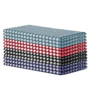 100% Cotton Yarn Dyed Gingham Small Checks Dinner Napkins 12 Pack - 50 x 50 CM