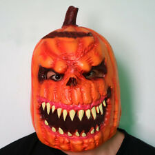 US! Unisex Horrific Skull Pumpkin Full Latex Mask Halloween Cosplay Props