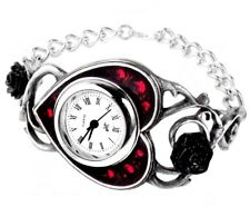 Bed Of Blood Roses Red Heart Black Rose Women's Watch AW22 Alchemy Gothic