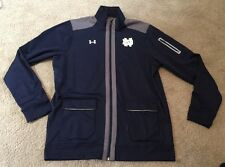 USED TEAM ISSUED NOTRE DAME FOOTBALL UNDER FULL ZIP UP XL TALL