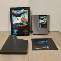 Slalom - NES Nintendo Complete CIB - 1st Print - Hangtab Unpunched 1986 5 screw