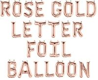 Rose Gold Alphabet Letter & Number Foil Balloons FORM PERSONALISED BIRTHDAY NAME