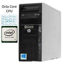 HP Z620 Workstation PC Xeon E5-4640 Octa-Core CPU 32GB Ram 256GB SSD Grafikkarte