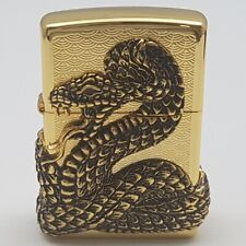 ZIPPO Lighter SNAKE COIL GD Made in USA Reworked at Korea with unique design