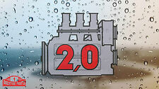2.0 engine window sticker for Porsche 911 - Retro 2.2 style rear screen decal