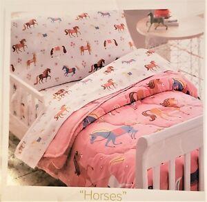 NEW Olive Kids Brand 4 pc ADORABLE Horse Toddler Complete Bedding Set~SUPER CUTE