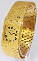 Piaget Mens Classic 18k Yellow Gold Bracelet Windup Watch 9133A6