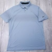 Nike Golf Tour Performance Polo Shirt Mens Large Gray Dri-Fit Short Sleeve P17