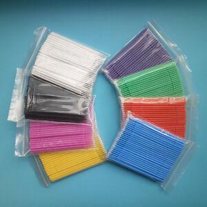 Dental Disposable Micro Applicators Brush Mixed Sticks Bendable 8 Colors 8 Packs