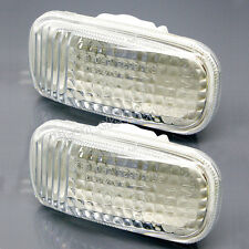 2 x White Fender Side Marker Clear Signal Light For Honda Civic Accord Odyssey