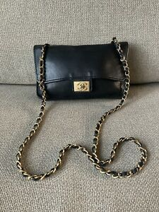 Chanel Black Chain Cross Body Bag