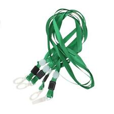 100x PRO GREEN Lanyard Neck Strap Swivel Plastic Clip For ID Card Pass Holder
