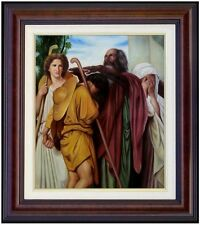 Framed, Bouguereau Tobias Say Good-Bye to his Father Repro, Oil Painting 20x24in