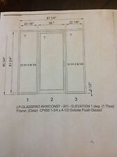Aluminum Glass Entry Door with sidelites. New in box