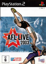 AFL LIVE 2003 PlayStation 2 Game  PS2