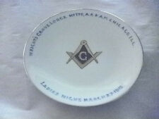 "ANTIQUE MASONIC 6"" DISH CHICAGO THOMAS BAVARIA CHINA KEATES ART STUDIO 100 YEARS"