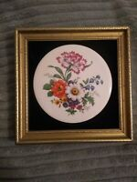 Staffordshire Harleigh China Co Framed Ceramic Plaque Hand Made in England 2/575