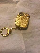 Reuge St. Croix Music Box Vintage Goldtone Windup Keychain Euc
