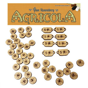 Wooden FOOD TOKENS set for AGRICOLA board game FULL REPLACEMENT