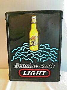 Miller Genuine Draft Bar Sign with light