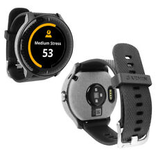 Skinomi Brushed Aluminum Skin & Screen Protector for Garmin Vivoactive 3 Music