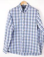 Tommy Hilfiger Herren 80's Zwei Ply Baumwolle Formelle Freizeithemd Größe M
