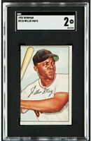 1952 Bowman #218 Willie Mays SGC 2