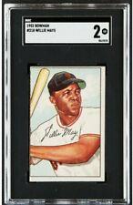 1952 Bowman #218 Willie Mays SGC 2