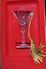 Gorham Lady Anne Mini Martini Glass Holiday Hanging Ornament Made Germany Boxed