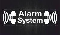 Sticker decal vinyl car bike bumber alarm system anti theft white