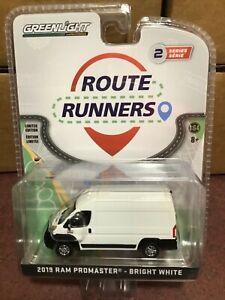 Greenlight Route Runners  2019 Ram Promaster Cargo Van Bright White