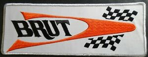 """LARGE VINTAGE BRUT SNOWMOBILE BACK PATCH 12"""" X 5"""" SWEET (523)"""