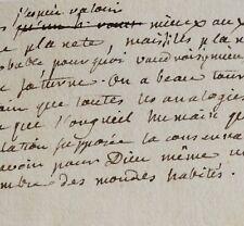 Précieux brouillon d'une lettre de Rousseau à Voltaire.