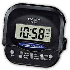CASIO PQ-30B-1 Digital Traveller Alarm Clock Black