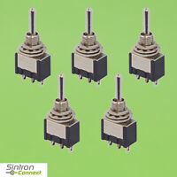 Ein 4306 Aus Miniatur Kippschalter 2-polig 6 Kontakte 2 x Umschalter Ein
