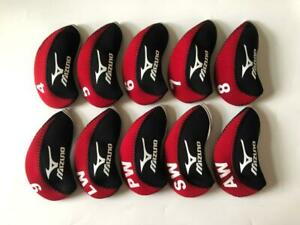 10PCS Golf Iron Covers R/H for Mizuno Club Headcovers 4-LW Red&Black Universal
