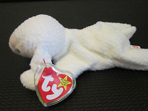 TY Beanie Baby Original FLEECE the Lamb RARE RETIRED MINT w/ Label Protector
