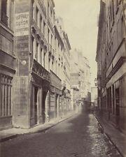 RUE DE BOURDONNAIS PARIS FRANCE 8X10 PHOTO CHARLES MARVILLE 1865