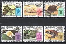 Animaux Tortues Cambodge (117) série complète 6 timbres oblitérés