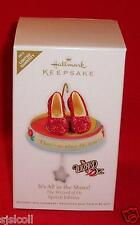 Hallmark 2011 Wizard Of Oz IT'S ALL IN THE SHOES Red Ruby Slippers Ornament MIB