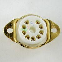 4pc GOLD 9pin Ceramic vacuum tube socket gilded for 12AX7 12AU7 ECC83 audio amp