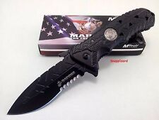 "US Marines 4.75"" CHECKPOINT MTech M-1051BK Tactical Folding Pocket Knife"