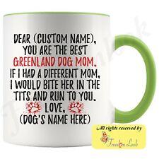 Personalized Greenland Dog Mom Coffee Mug, Greenland Husky Owner Women Gift